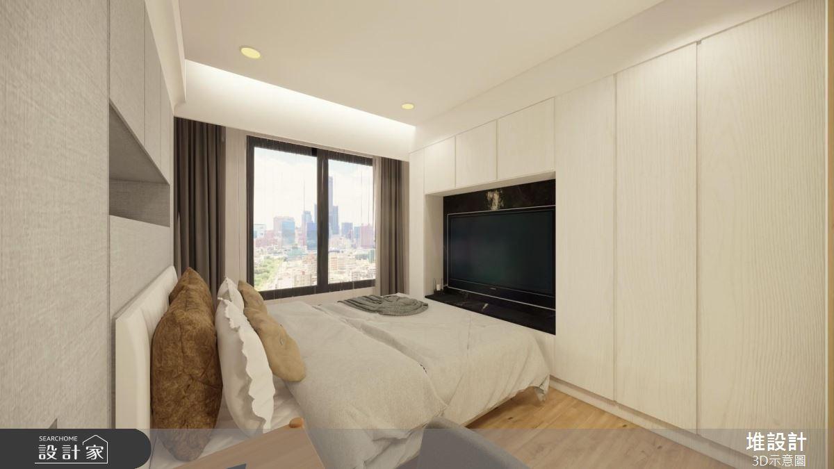 42坪新成屋(5年以下)_現代風臥室案例圖片_堆設計室內裝修_堆設計_03之7