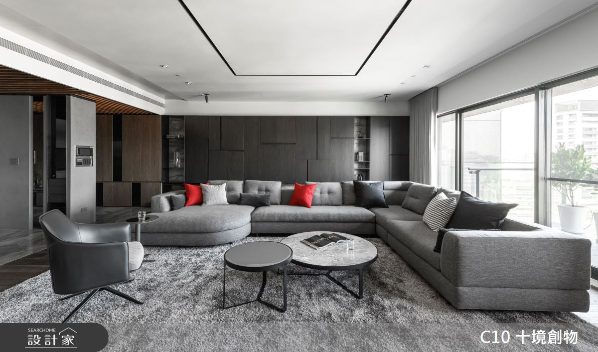 80坪新成屋(5年以下)_現代風客廳案例圖片_十境創物空間設計有限公司_十境_蛻色之1