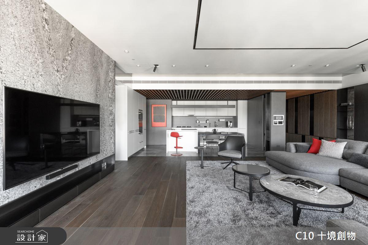 80坪新成屋(5年以下)_現代風客廳案例圖片_十境創物空間設計有限公司_十境_蛻色之2