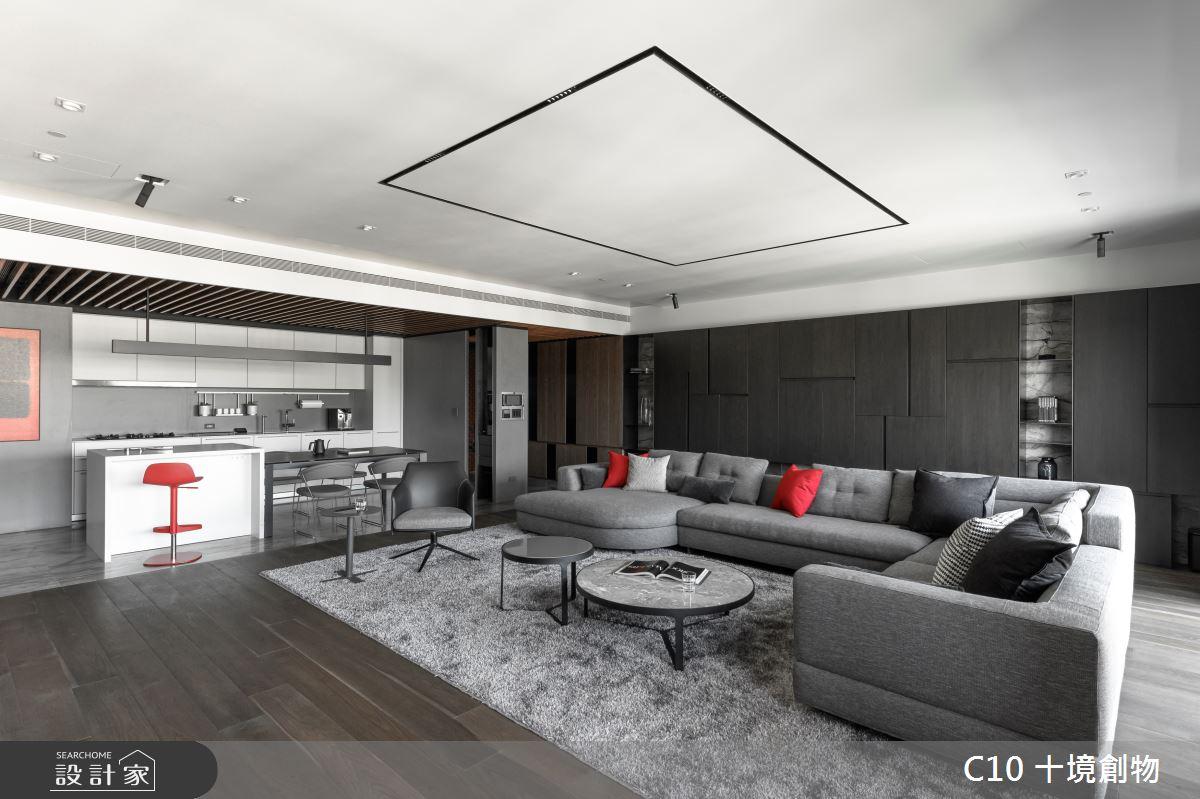 80坪新成屋(5年以下)_現代風客廳案例圖片_十境創物空間設計有限公司_十境_蛻色之3