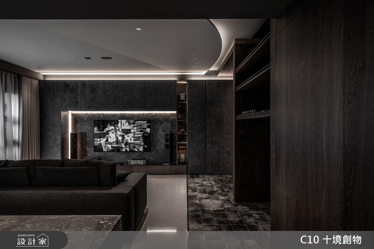 30坪新成屋(5年以下)_現代風案例圖片_十境創物空間設計有限公司_十境_墨韻之3