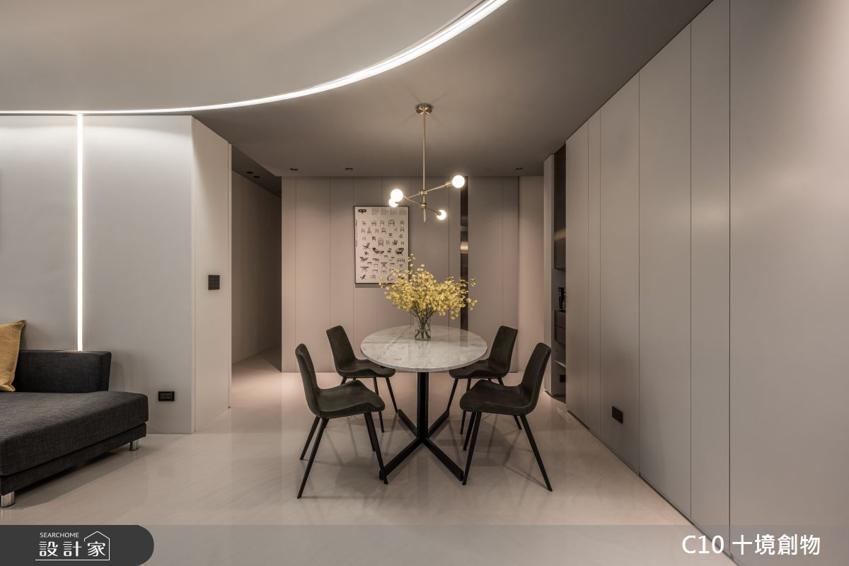 35坪新成屋(5年以下)_現代風餐廳案例圖片_十境創物空間設計有限公司_十境_白皪之2