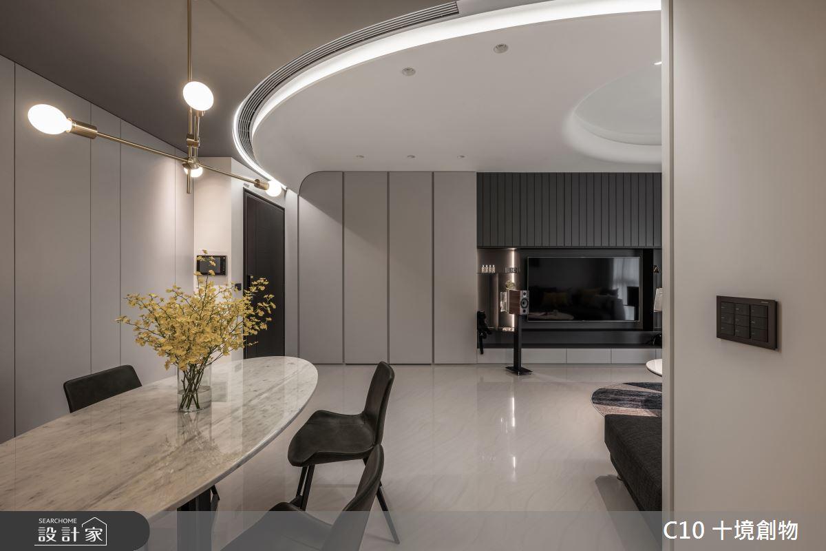 35坪新成屋(5年以下)_現代風餐廳案例圖片_十境創物空間設計有限公司_十境_白皪之4