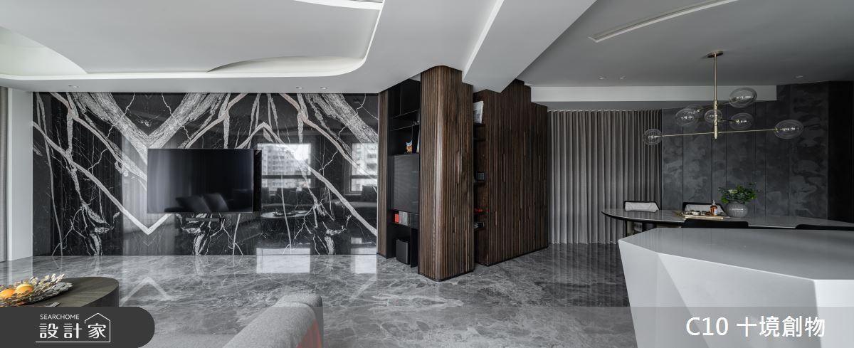 60坪新成屋(5年以下)_現代風案例圖片_十境創物空間設計有限公司_十境_白石粼粼之3