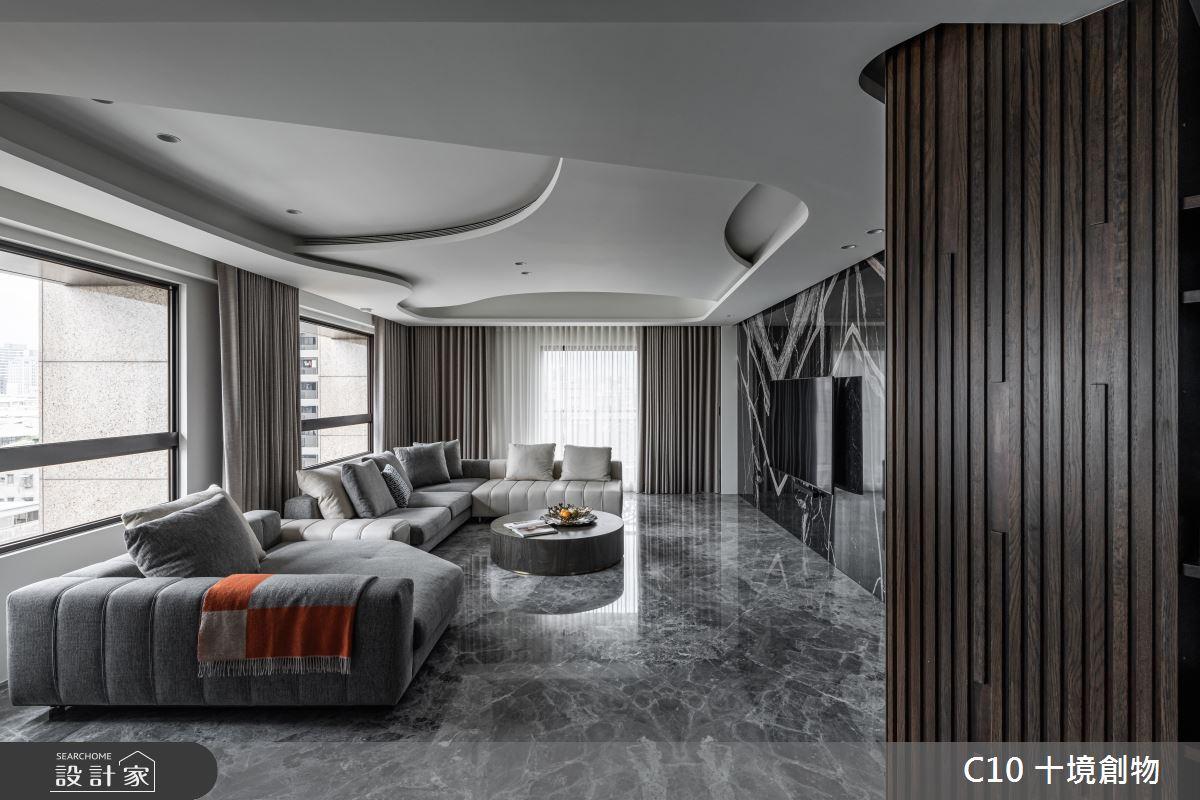 60坪新成屋(5年以下)_現代風案例圖片_十境創物空間設計有限公司_十境_白石粼粼之1