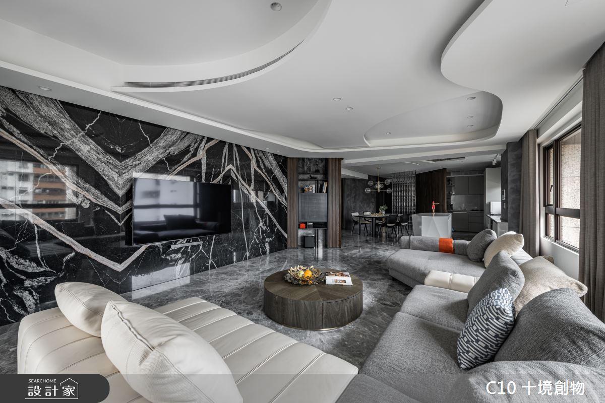 60坪新成屋(5年以下)_現代風案例圖片_十境創物空間設計有限公司_十境_白石粼粼之4