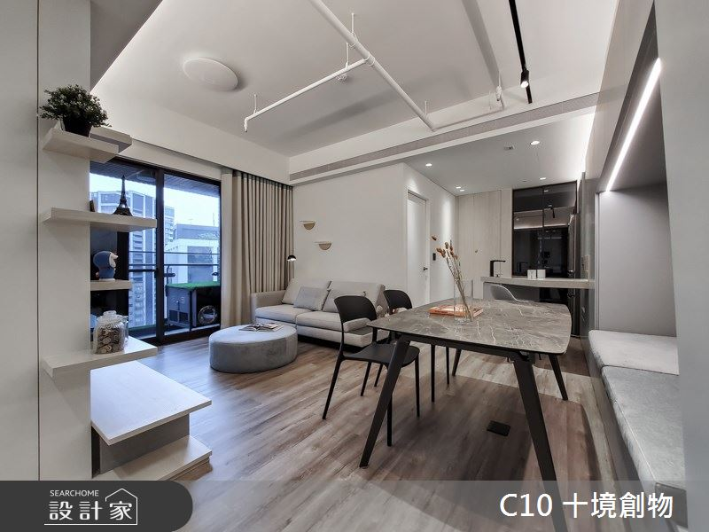 23坪新成屋(5年以下)_北歐風案例圖片_十境創物空間設計有限公司_十境_老貓寓之1