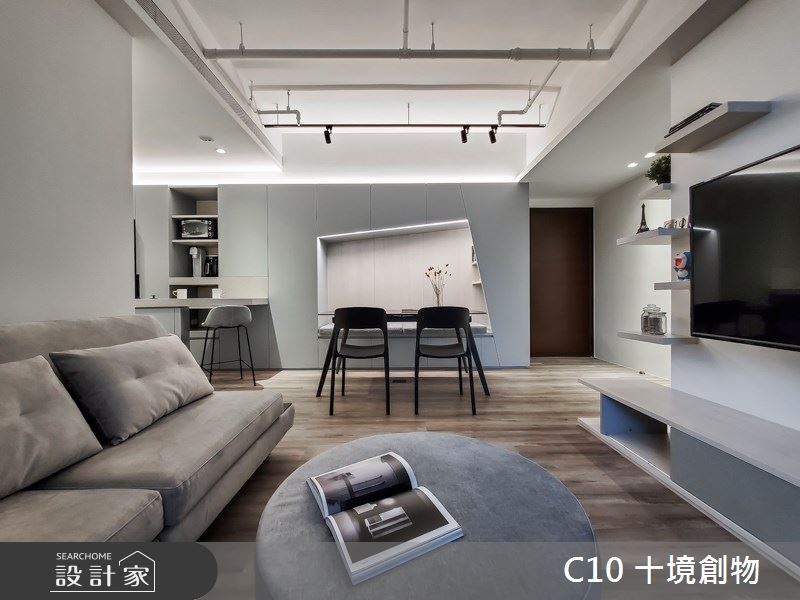 23坪新成屋(5年以下)_北歐風案例圖片_十境創物空間設計有限公司_十境_老貓寓之4