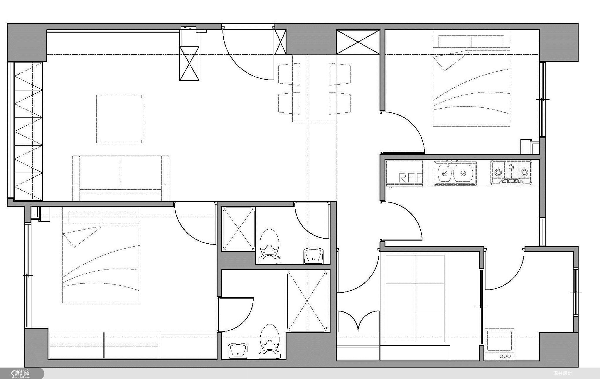 25坪新成屋(5年以下)_北歐風案例圖片_源井設計_源井_01之37