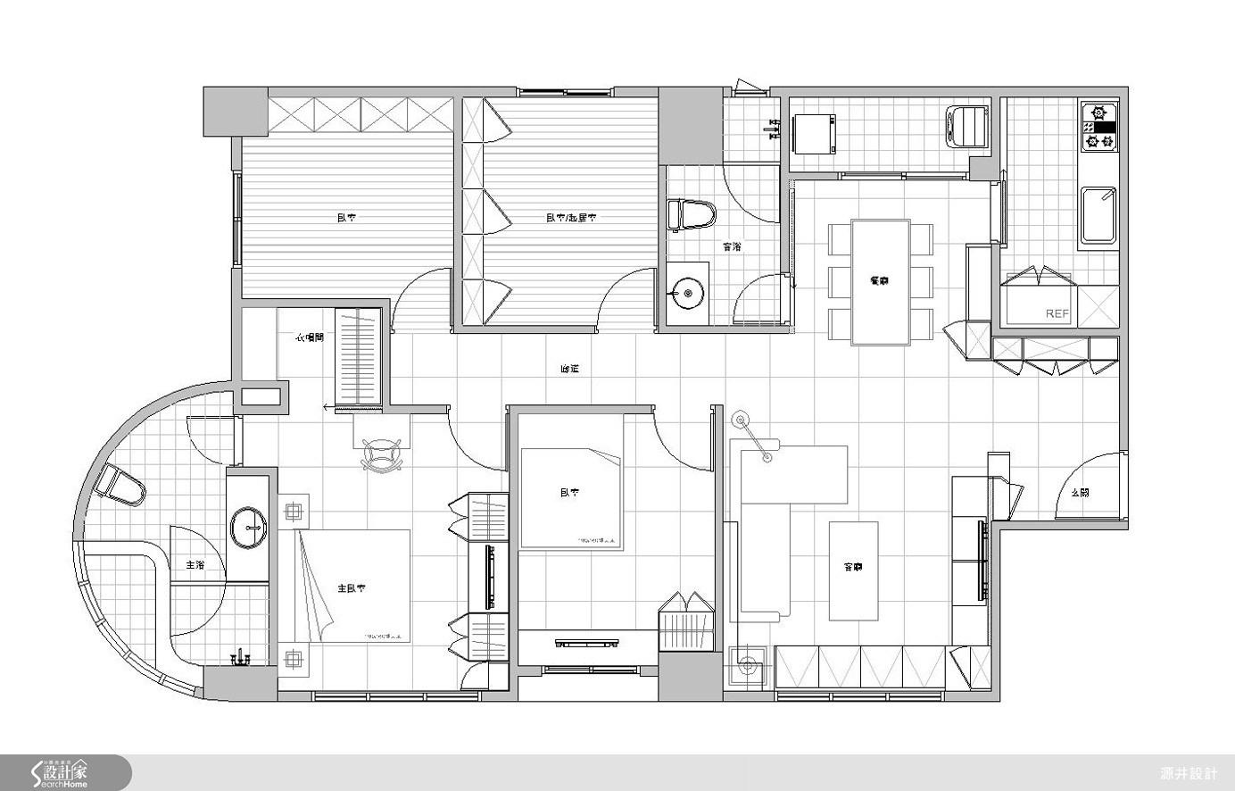 35坪新成屋(5年以下)_現代風案例圖片_源井設計_源井_06之23