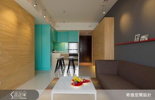 16坪新成屋(5年以下)_普普風客廳廚房案例圖片_奇逸空間設計_奇逸_01之3