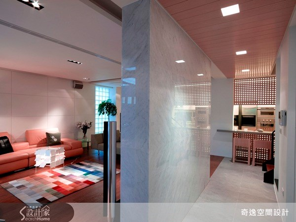 65坪老屋(16~30年)_現代風客廳吧檯走廊案例圖片_奇逸空間設計_奇逸_04之4