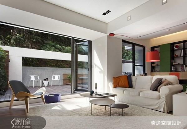 70坪新成屋(5年以下)_現代風客廳案例圖片_奇逸空間設計_奇逸_06之4