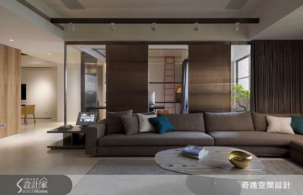 45坪新成屋(5年以下)_現代風客廳案例圖片_奇逸空間設計_奇逸_09之1