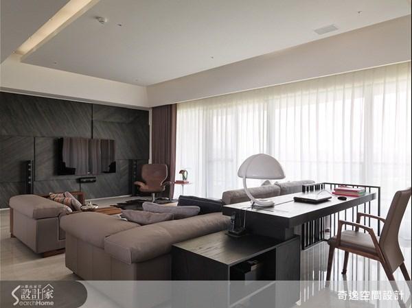 66坪新成屋(5年以下)_簡約風客廳案例圖片_奇逸空間設計_奇逸_13之5