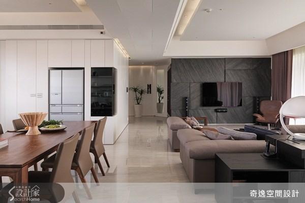 66坪新成屋(5年以下)_簡約風客廳餐廳案例圖片_奇逸空間設計_奇逸_13之6