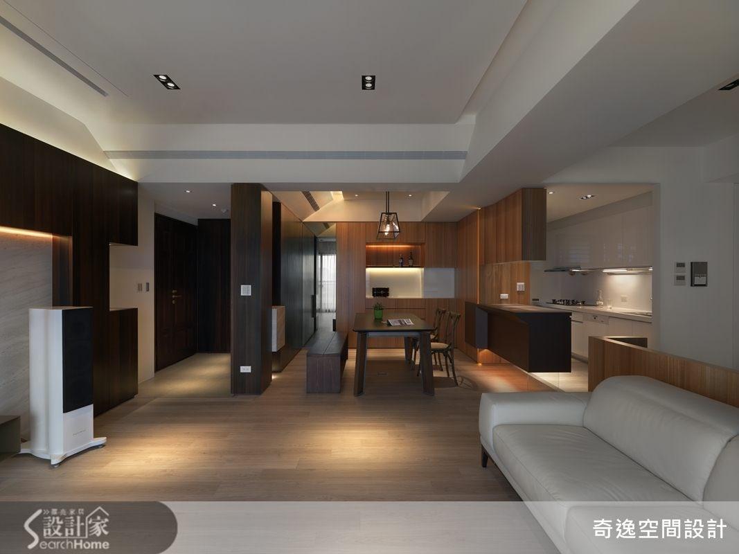36坪預售屋_現代風玄關客廳餐廳廚房案例圖片_奇逸空間設計_奇逸_16之1