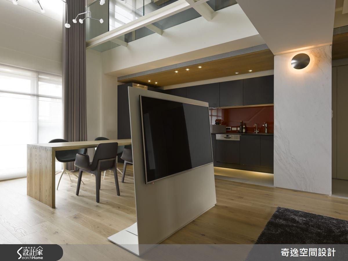 40坪新成屋(5年以下)_現代風客廳餐廳廚房案例圖片_奇逸空間設計_奇逸_17之2