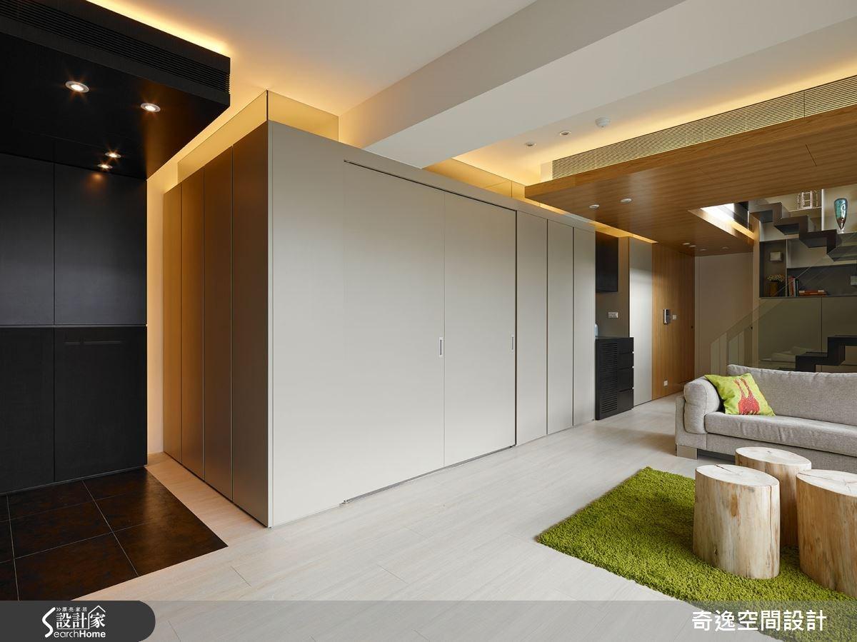 72坪老屋(16~30年)_現代風客廳案例圖片_奇逸空間設計_奇逸_19之2