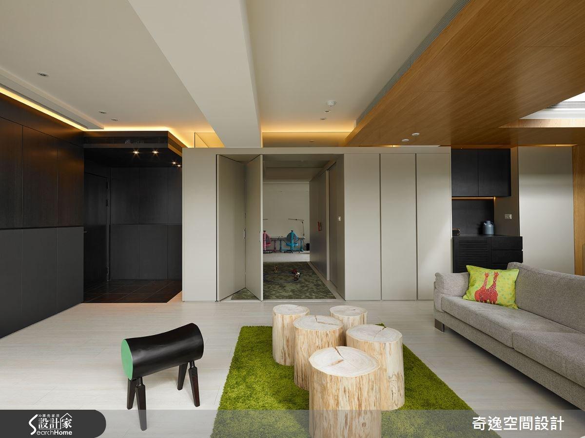 72坪老屋(16~30年)_現代風客廳案例圖片_奇逸空間設計_奇逸_19之4