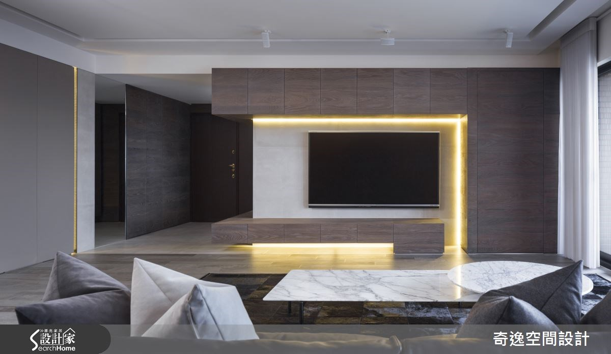 40坪新成屋(5年以下)_現代風客廳案例圖片_奇逸空間設計_奇逸_20之3