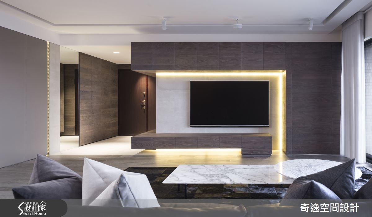 40坪新成屋(5年以下)_現代風客廳案例圖片_奇逸空間設計_奇逸_20之4