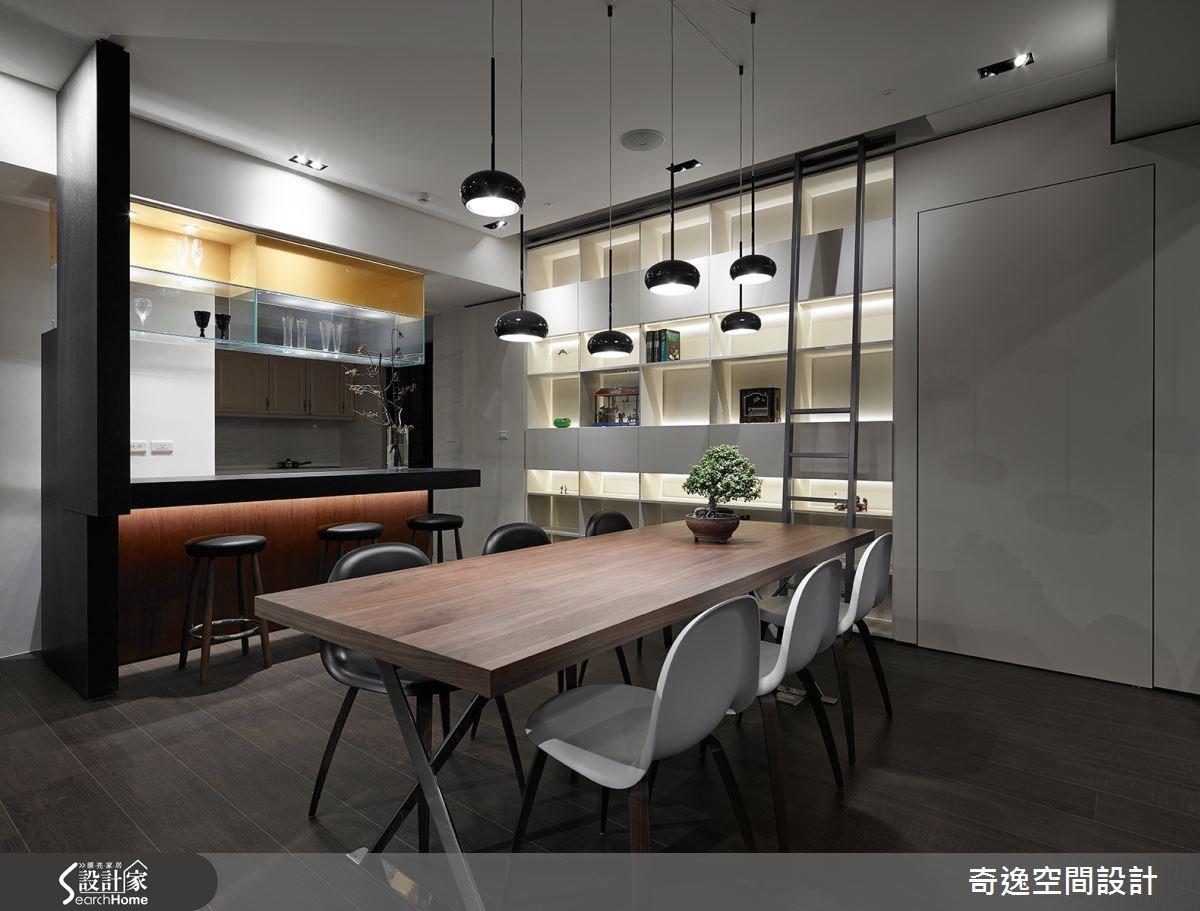 50坪新成屋(5年以下)_現代風吧檯案例圖片_奇逸空間設計_奇逸_21之3