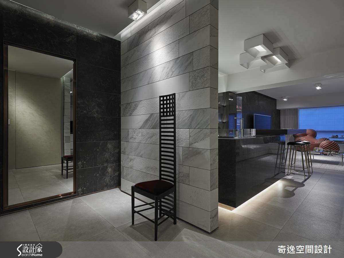44坪老屋(16~30年)_現代風吧檯案例圖片_奇逸空間設計_奇逸_22之1