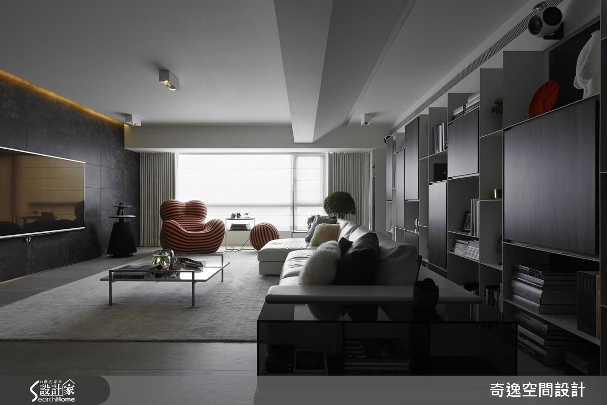 44坪老屋(16~30年)_現代風客廳案例圖片_奇逸空間設計_奇逸_22之4