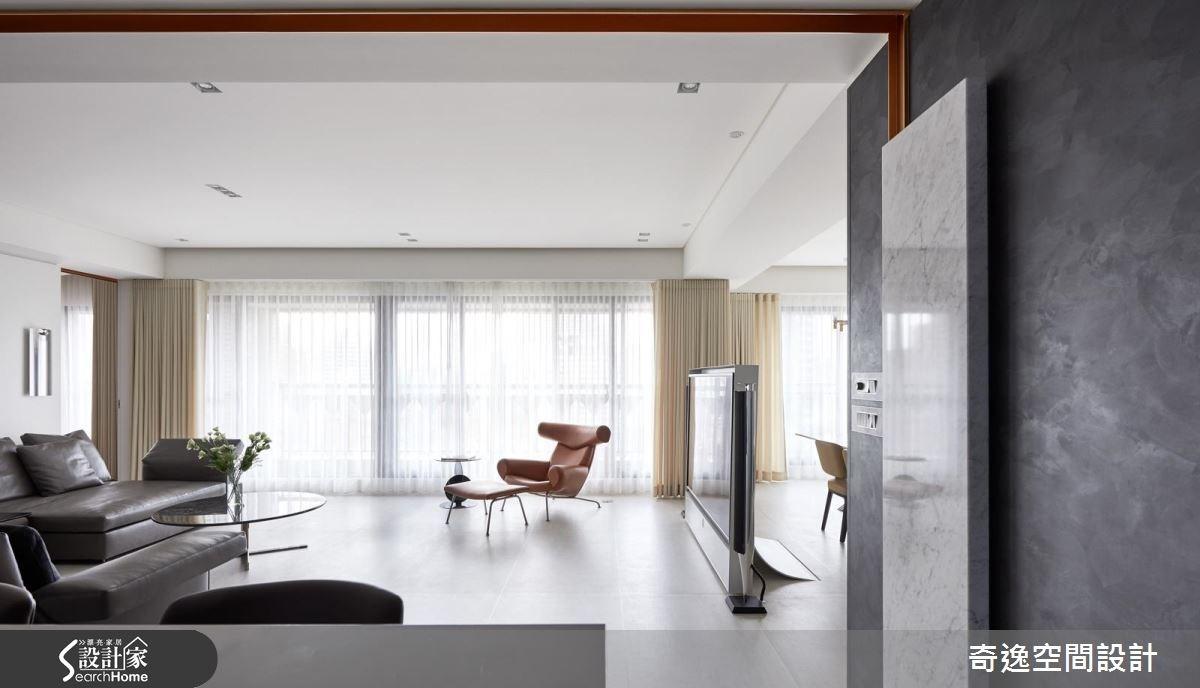 60坪新成屋(5年以下)_現代風客廳走廊案例圖片_奇逸空間設計_奇逸_23之1