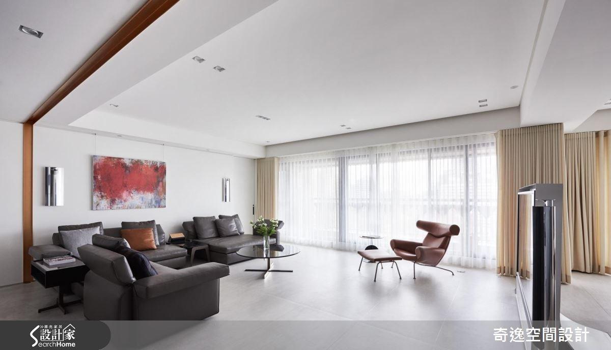 60坪新成屋(5年以下)_現代風客廳案例圖片_奇逸空間設計_奇逸_23之2