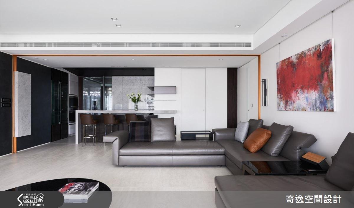 60坪新成屋(5年以下)_現代風客廳吧檯案例圖片_奇逸空間設計_奇逸_23之3