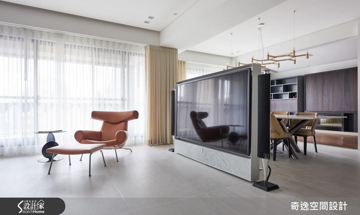 60坪新成屋(5年以下)_現代風客廳案例圖片_奇逸空間設計_奇逸_23之4