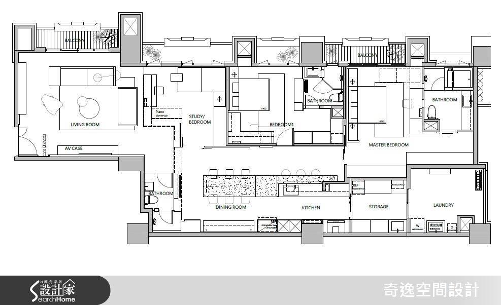 53坪新成屋(5年以下)_現代風案例圖片_奇逸空間設計_奇逸_24之26