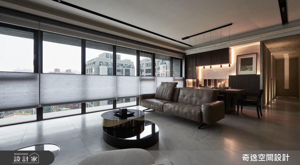 34坪新成屋(5年以下)_混搭風客廳案例圖片_奇逸空間設計_奇逸_28之2