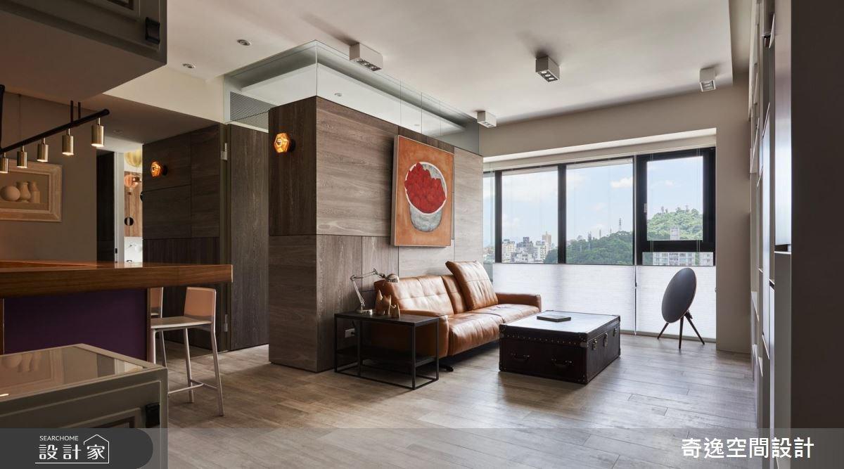 34坪新成屋(5年以下)_混搭風客廳案例圖片_奇逸空間設計_奇逸_29之1