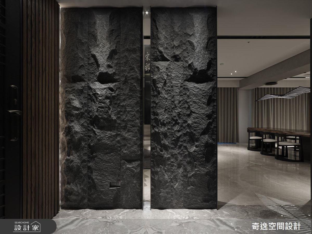 95坪新成屋(5年以下)_新中式風玄關案例圖片_奇逸空間設計_奇逸_32之1