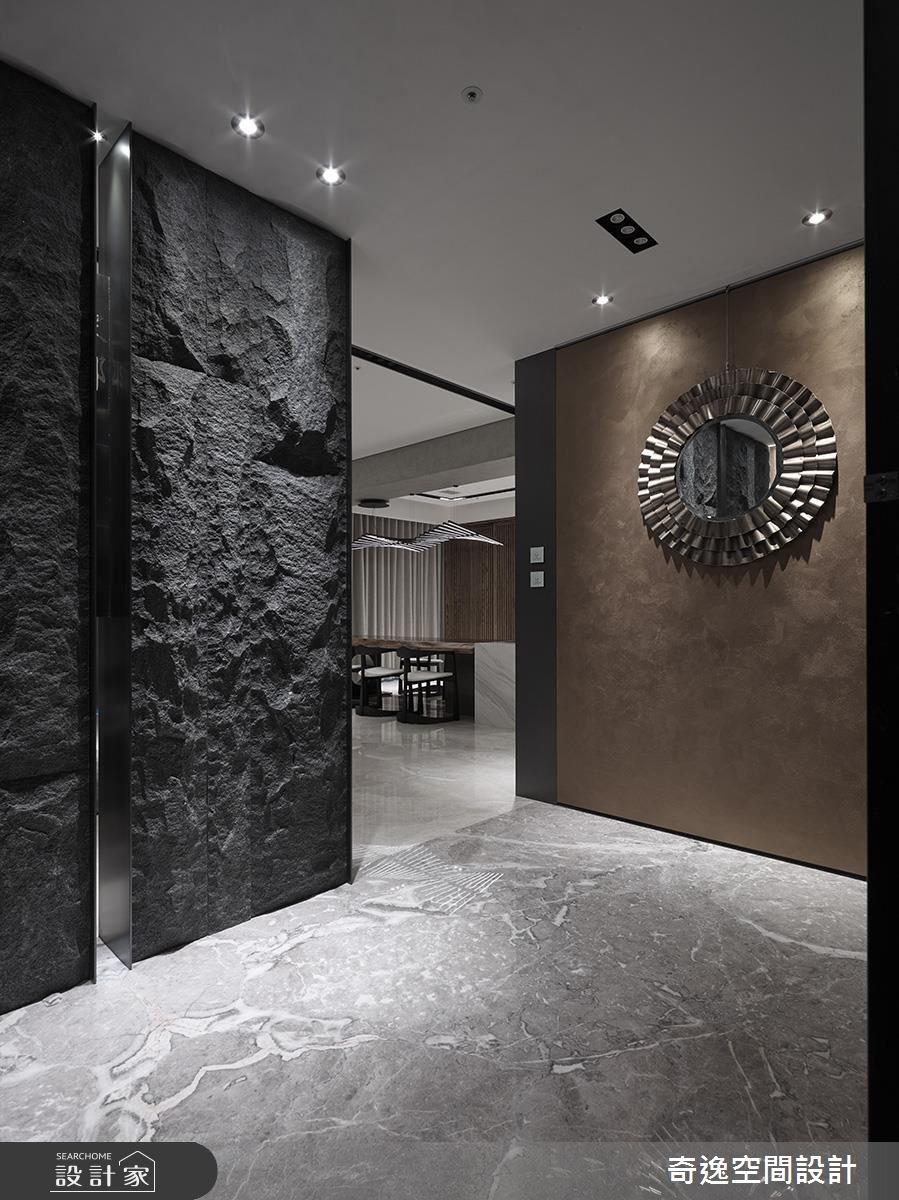 95坪新成屋(5年以下)_新中式風玄關案例圖片_奇逸空間設計_奇逸_32之2