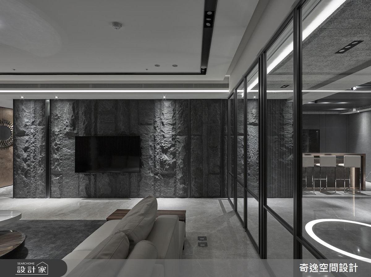 95坪新成屋(5年以下)_新中式風客廳案例圖片_奇逸空間設計_奇逸_32之5
