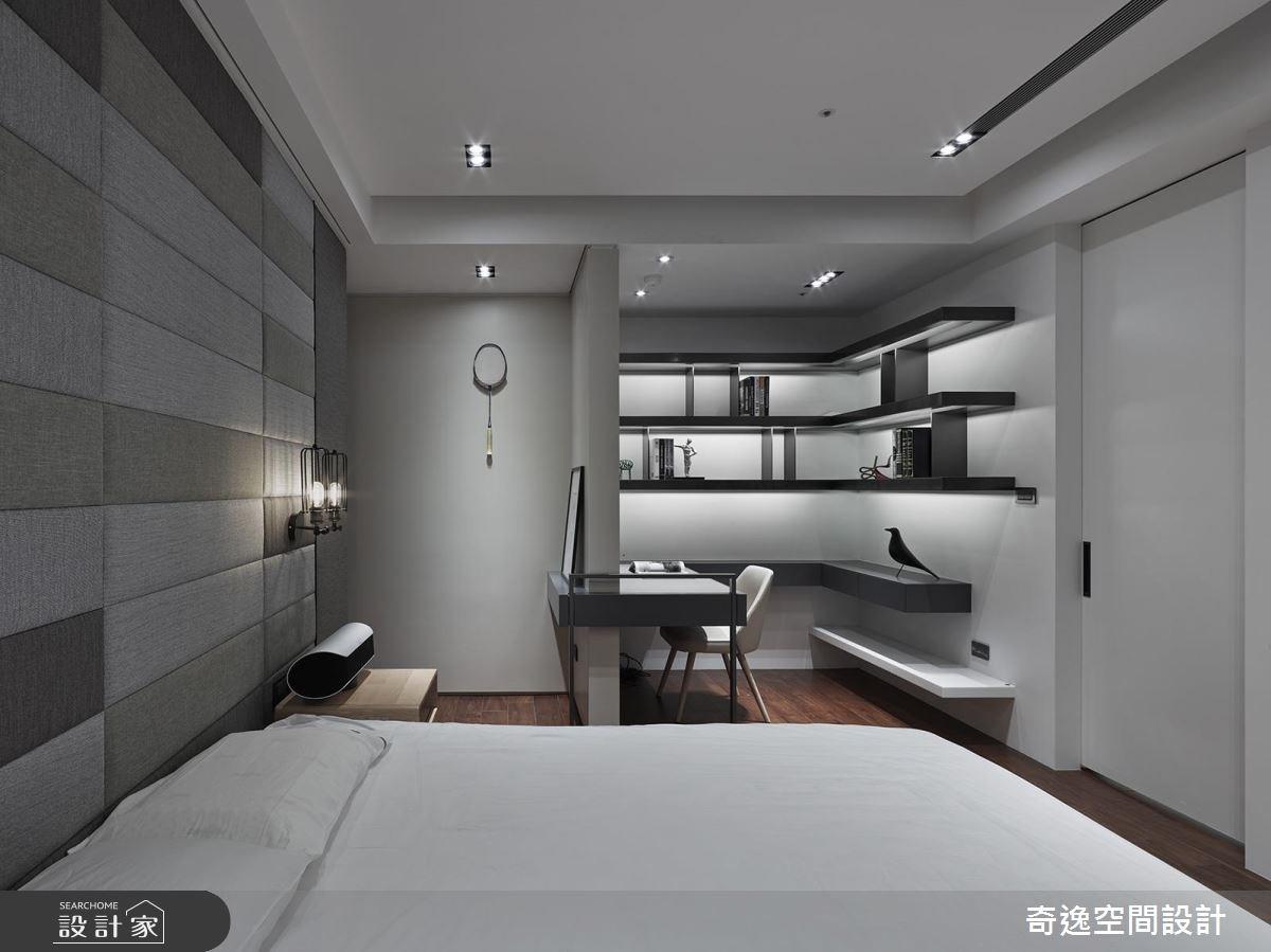 95坪新成屋(5年以下)_新中式風臥室案例圖片_奇逸空間設計_奇逸_32之27