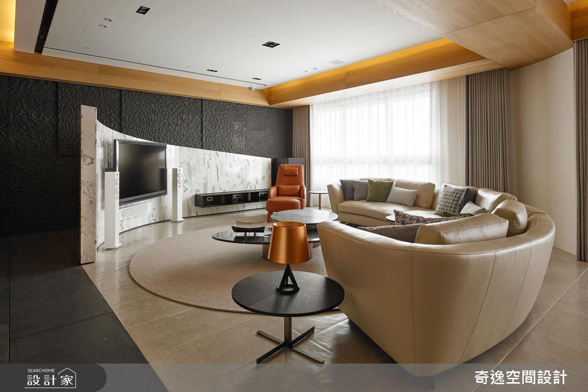 75坪新成屋(5年以下)_現代風客廳案例圖片_奇逸空間設計_奇逸_33之5