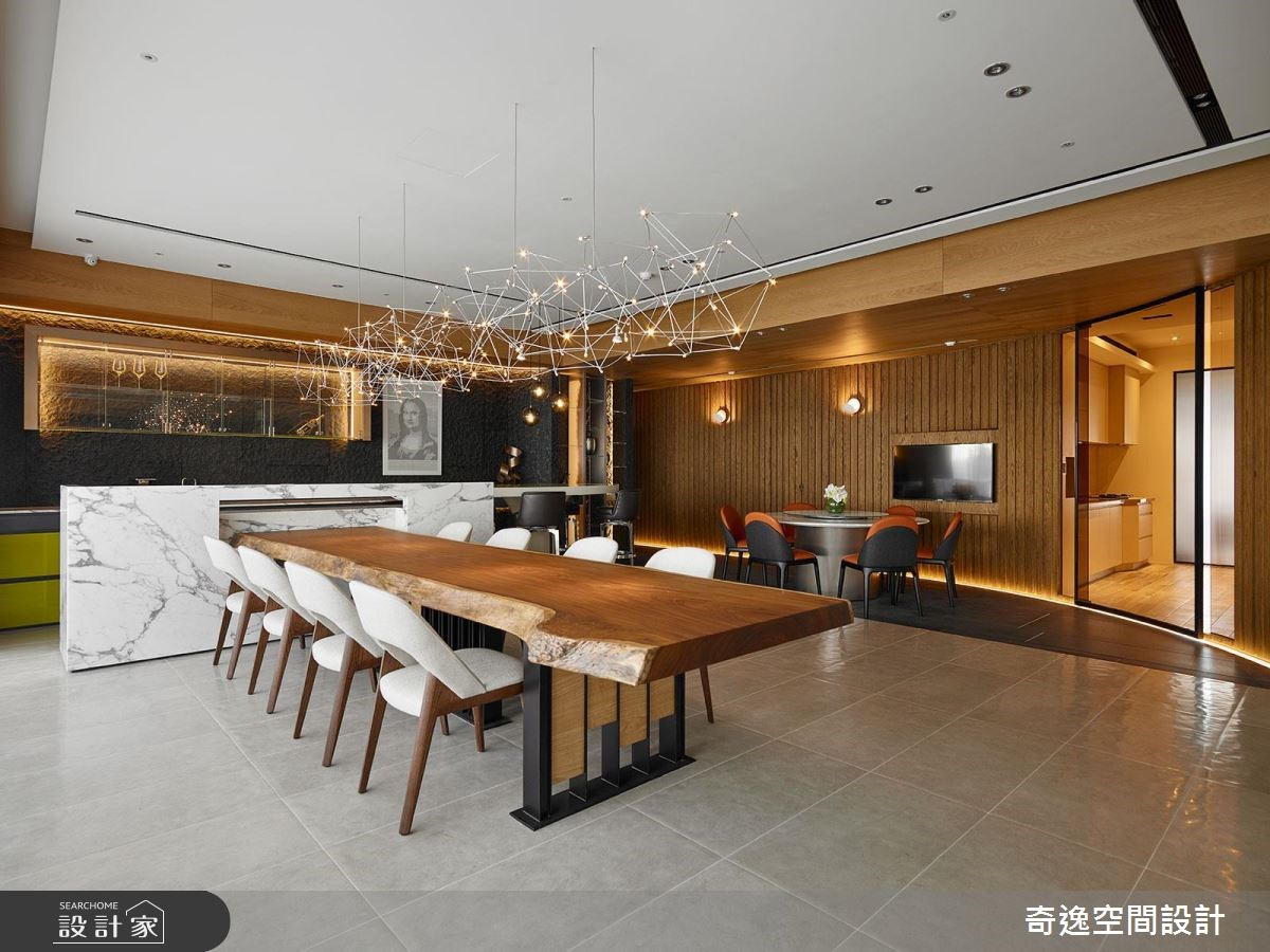 75坪新成屋(5年以下)_現代風餐廳案例圖片_奇逸空間設計_奇逸_33之12