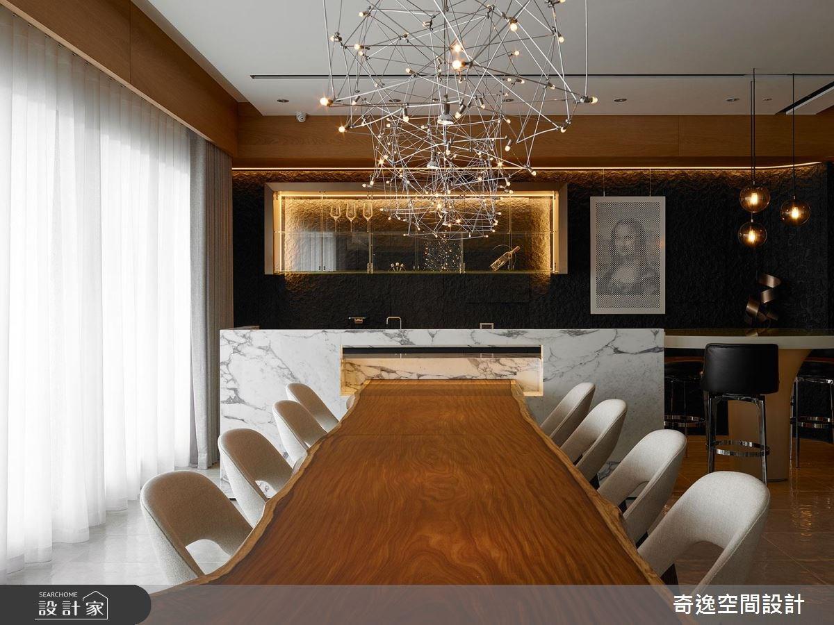 75坪新成屋(5年以下)_現代風餐廳案例圖片_奇逸空間設計_奇逸_33之14
