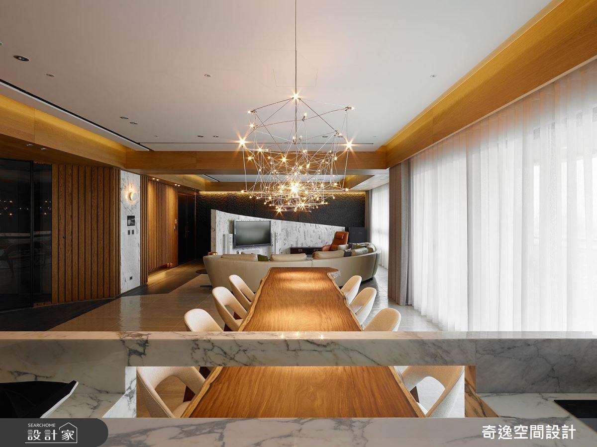 75坪新成屋(5年以下)_現代風餐廳案例圖片_奇逸空間設計_奇逸_33之16