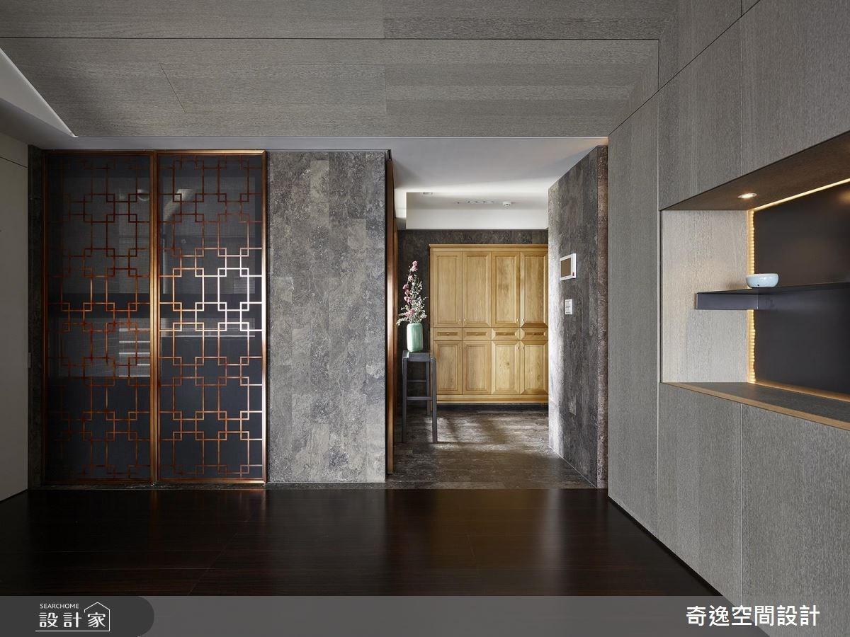 37坪新成屋(5年以下)_新中式風玄關案例圖片_奇逸空間設計_奇逸_36之2