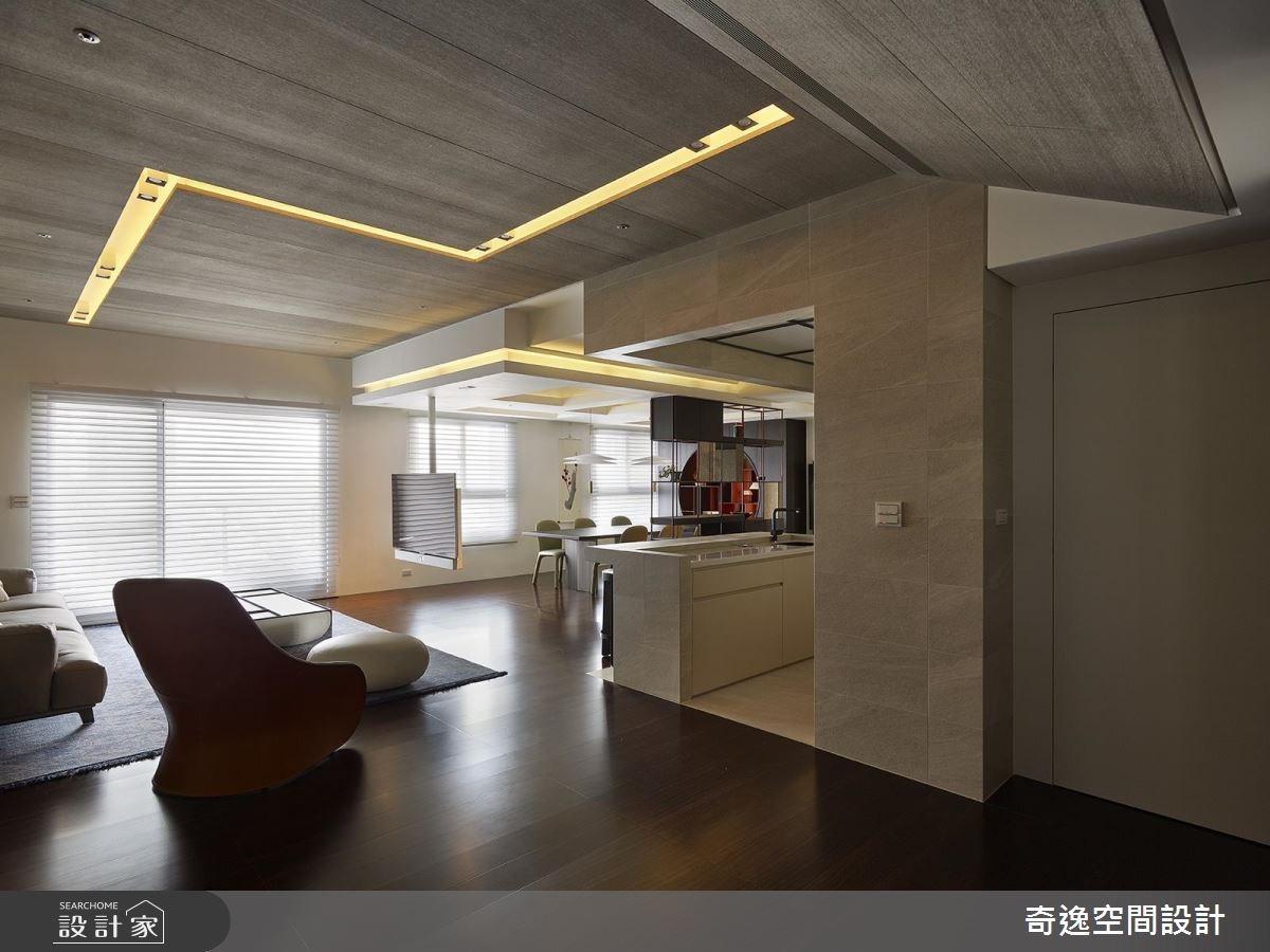 37坪新成屋(5年以下)_新中式風客廳案例圖片_奇逸空間設計_奇逸_36之4