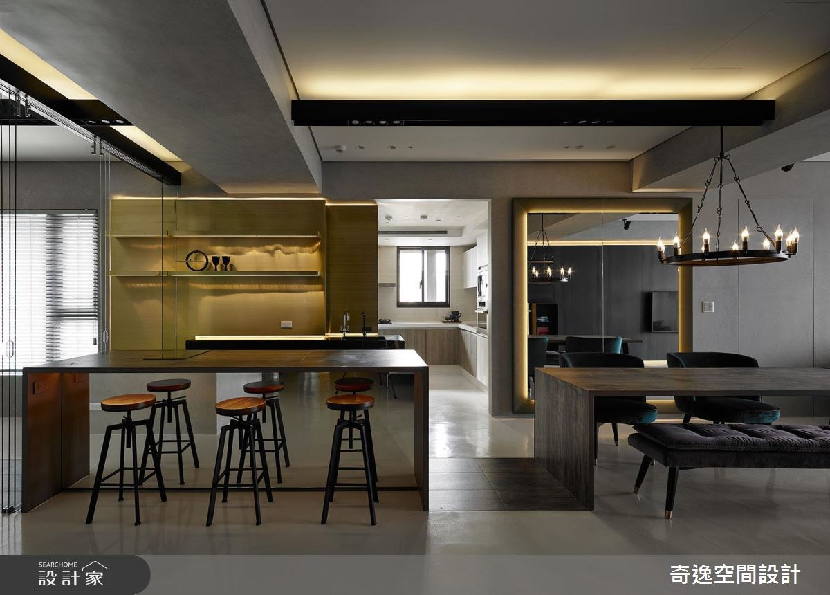 43坪新成屋(5年以下)_混搭風吧檯案例圖片_奇逸空間設計_奇逸_37之6