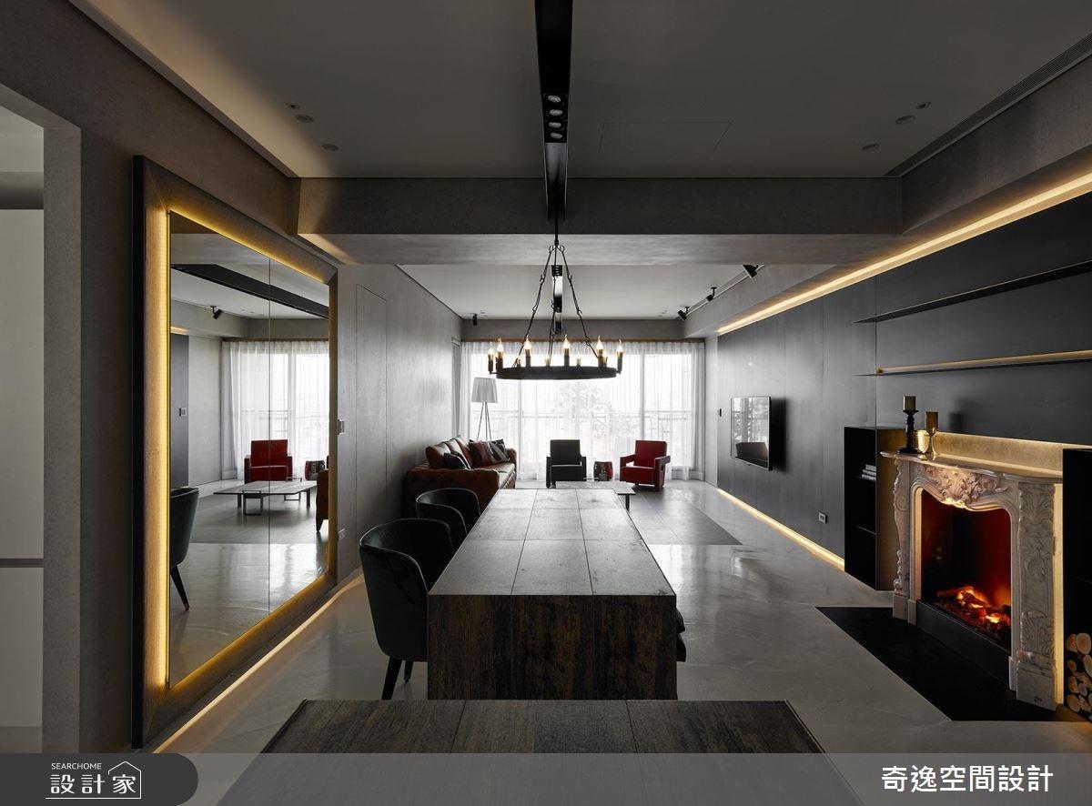 43坪新成屋(5年以下)_混搭風餐廳案例圖片_奇逸空間設計_奇逸_37之8