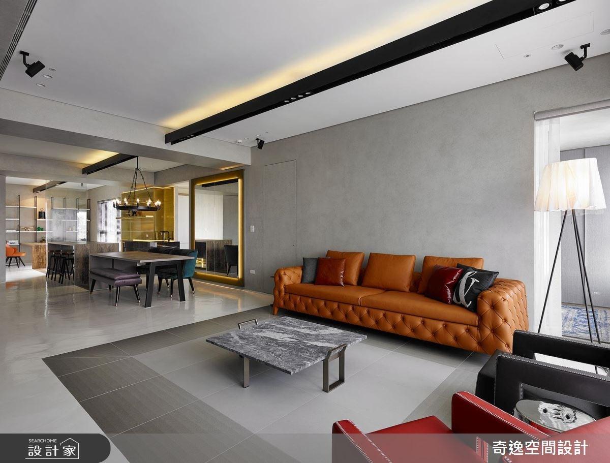 43坪新成屋(5年以下)_混搭風客廳案例圖片_奇逸空間設計_奇逸_37之9