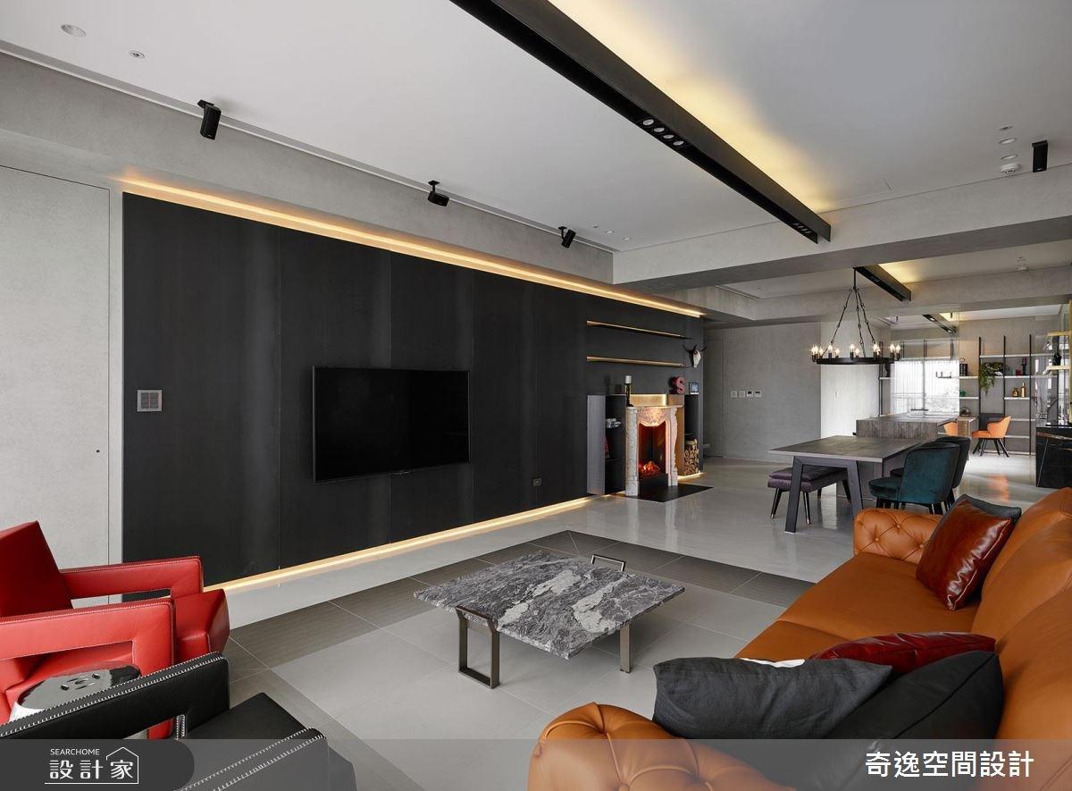 43坪新成屋(5年以下)_混搭風客廳案例圖片_奇逸空間設計_奇逸_37之10